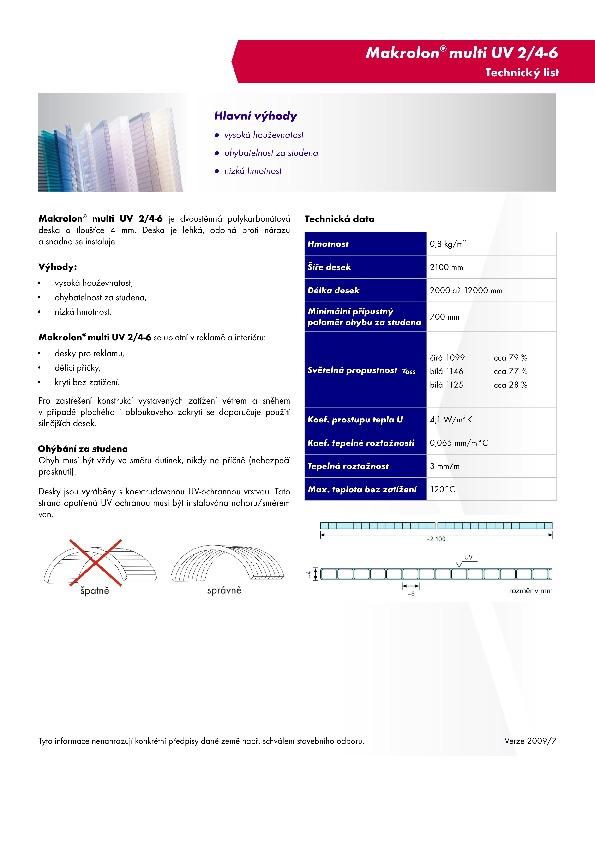 Technický list - Makrolon 2-4