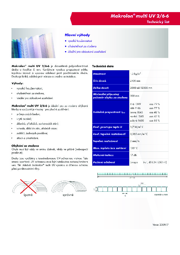 Technický list - Makrolon 2-6