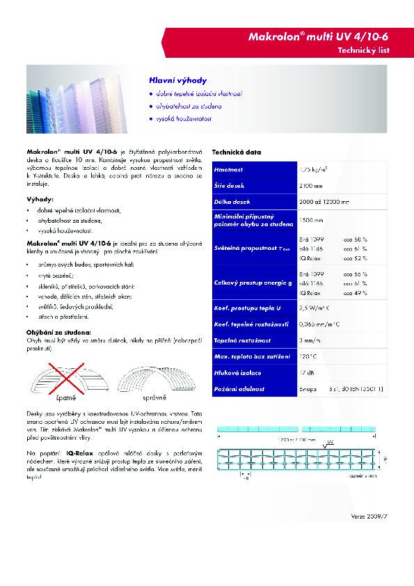 Technický list - Makrolon 4-10