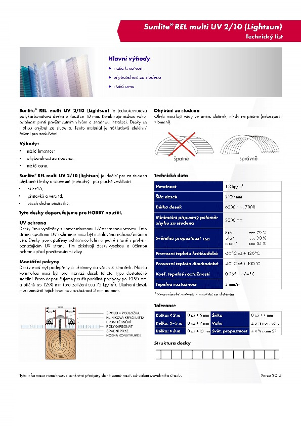 Technický list- Sunlite 2-10-lightsun