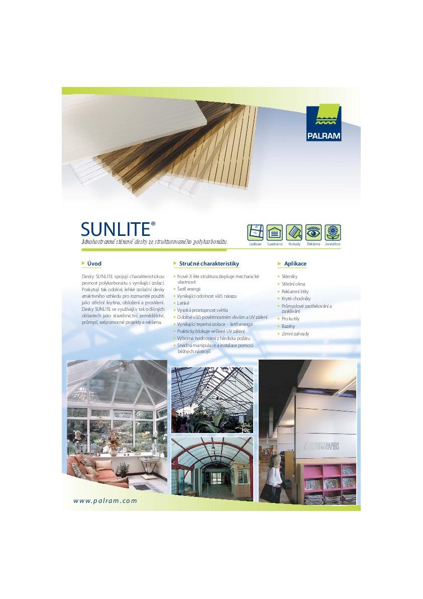 Technický list - Sunlite